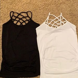 Tops - Two cami with straps on front